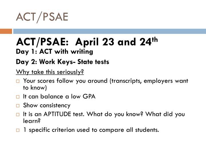 ACT/PSAE