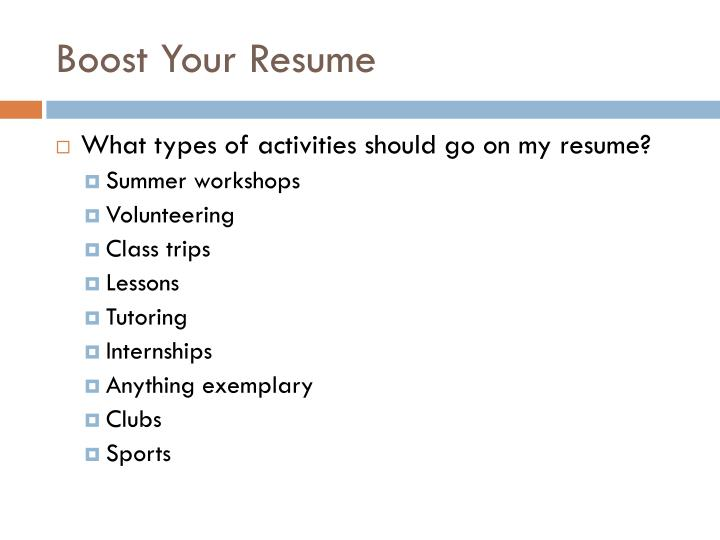 Boost Your Resume