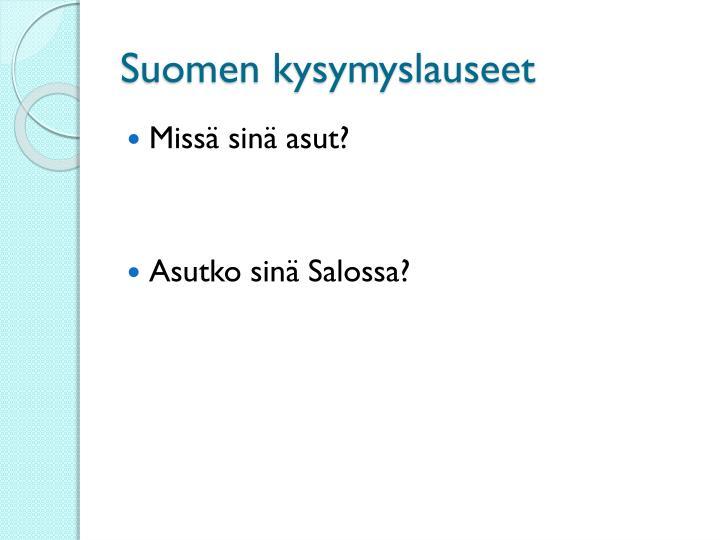 Suomen kysymyslauseet