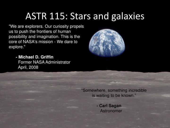 Astr 115 stars and galaxies