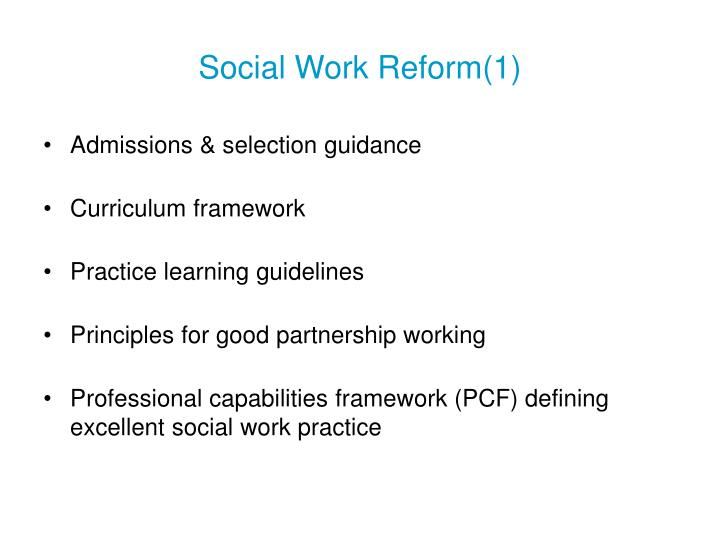 Social Work Reform(1)