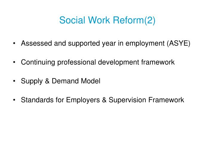 Social Work Reform(2)