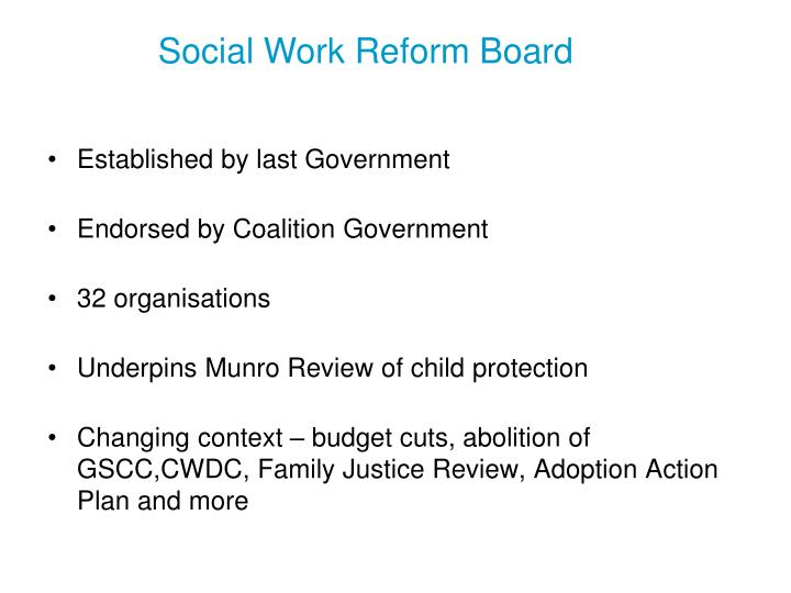 Social Work Reform Board