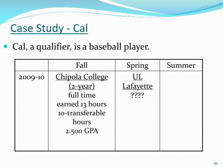 Case Study - Cal