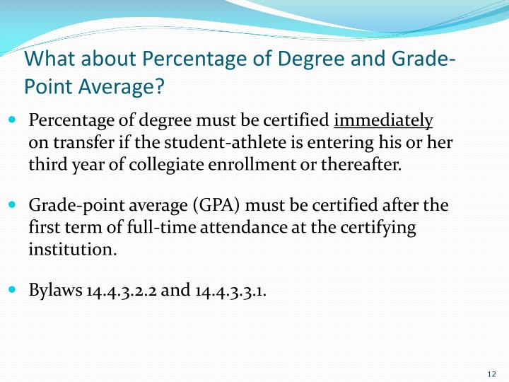 What about Percentage of Degree and Grade-Point Average?