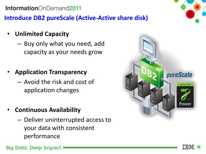 Introduce DB2 pureScale (Active-Active share disk)