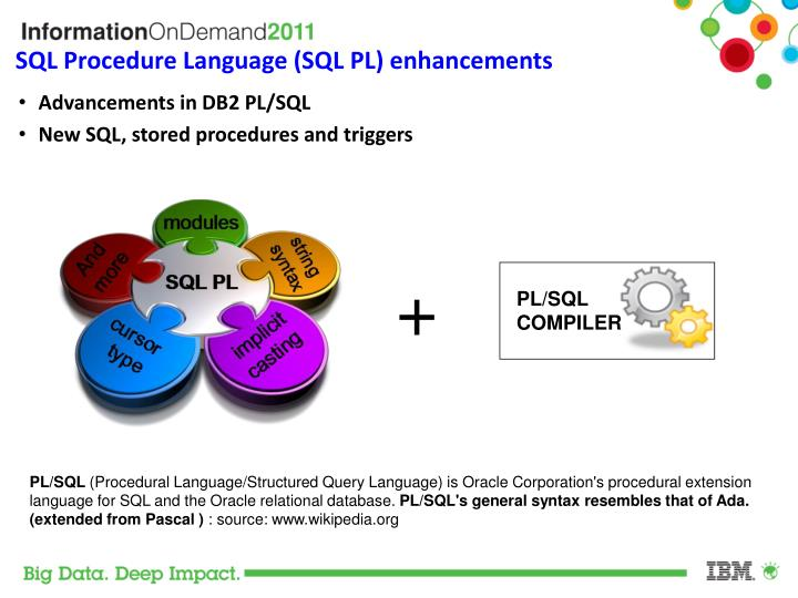SQL Procedure Language (SQL PL) enhancements