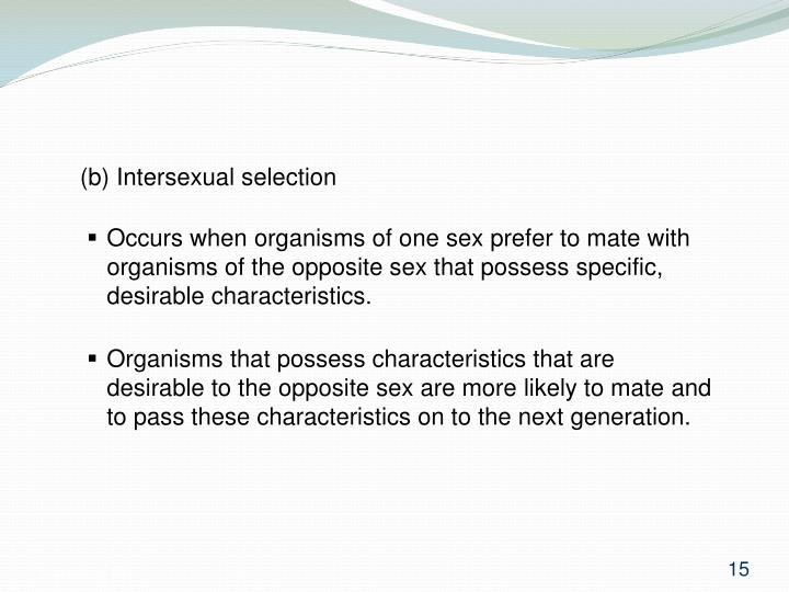 (b) Intersexual selection