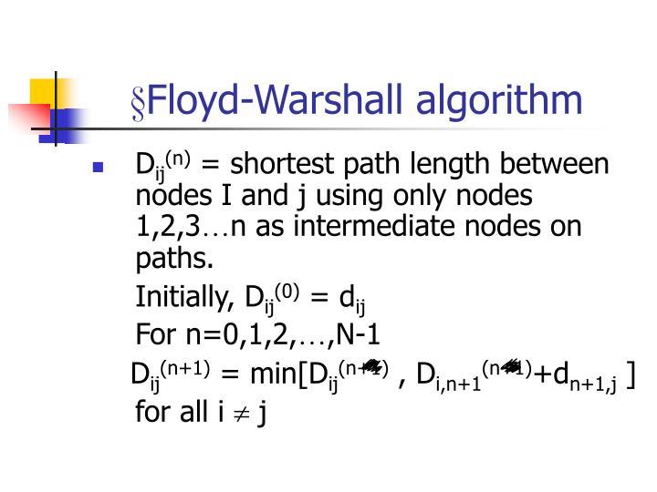 §Floyd-Warshall algorithm