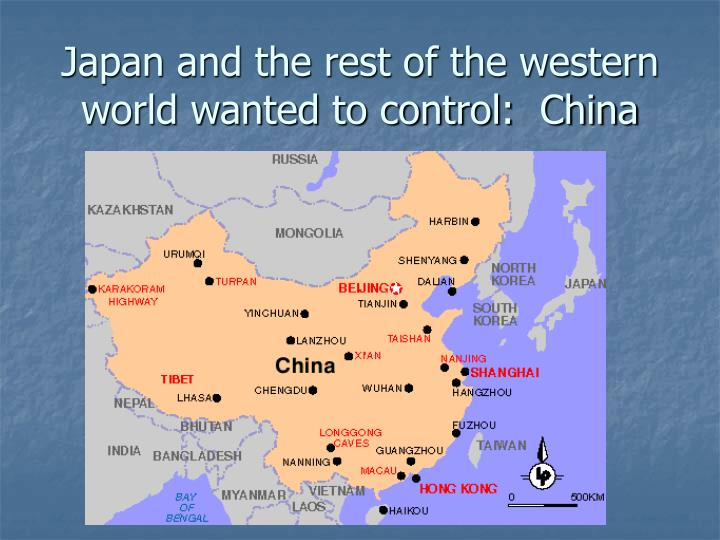 Japan and the rest of the western world wanted to control:  China