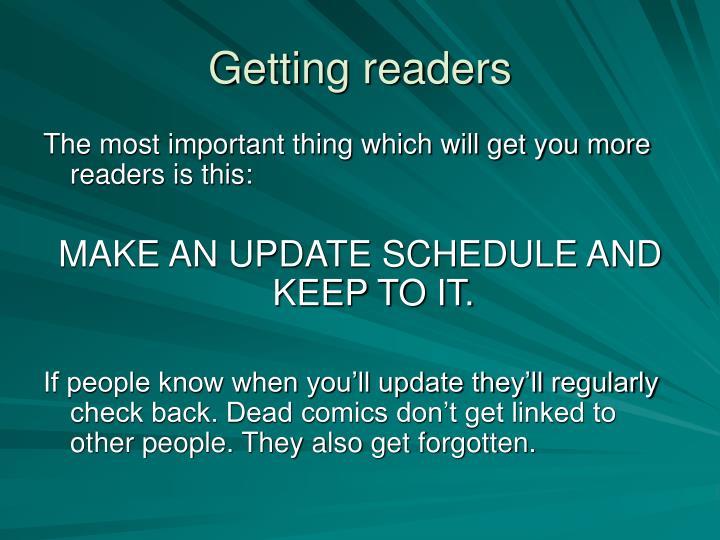 Getting readers
