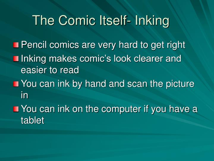 The Comic Itself- Inking