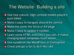the website building a site