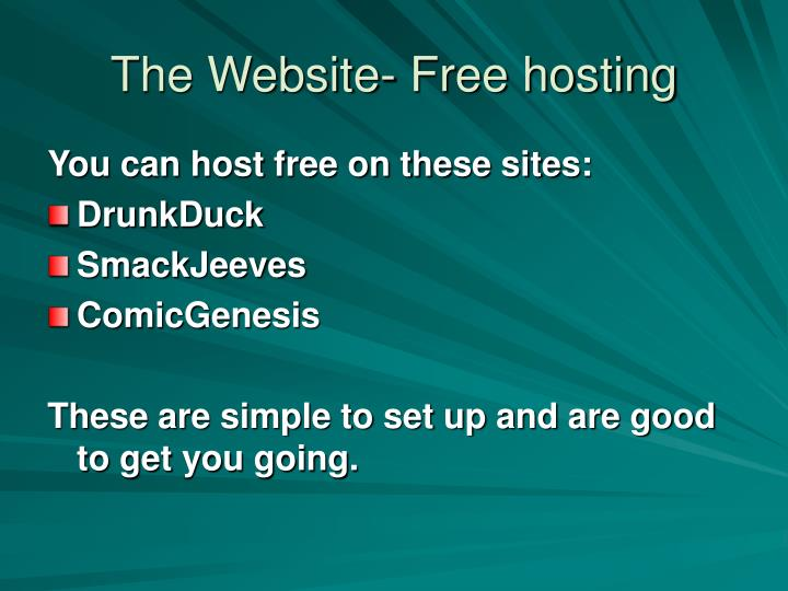 The Website- Free hosting