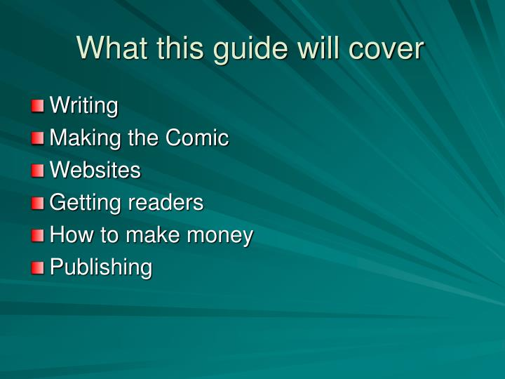 What this guide will cover