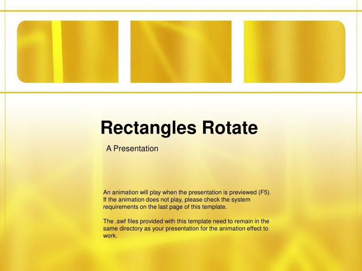 Rectangles rotate