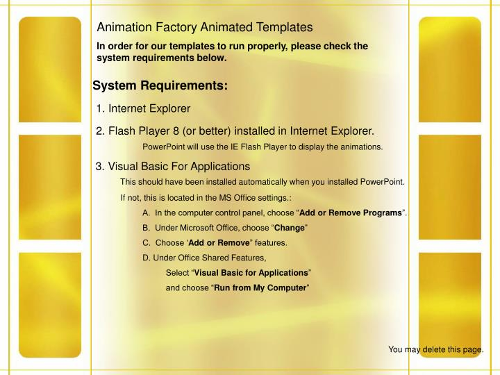 Animation Factory Animated Templates