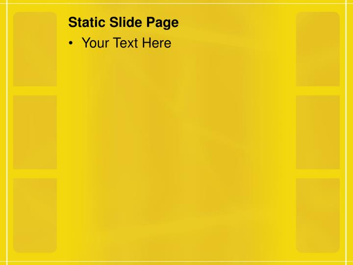 Static Slide Page