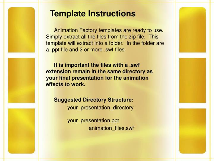 Template Instructions