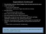 expectations continued