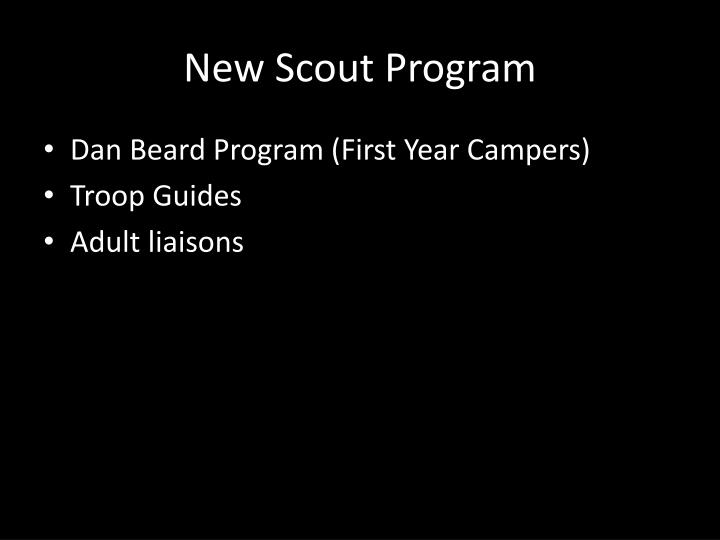 New Scout Program