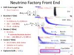 neutrino factory front end
