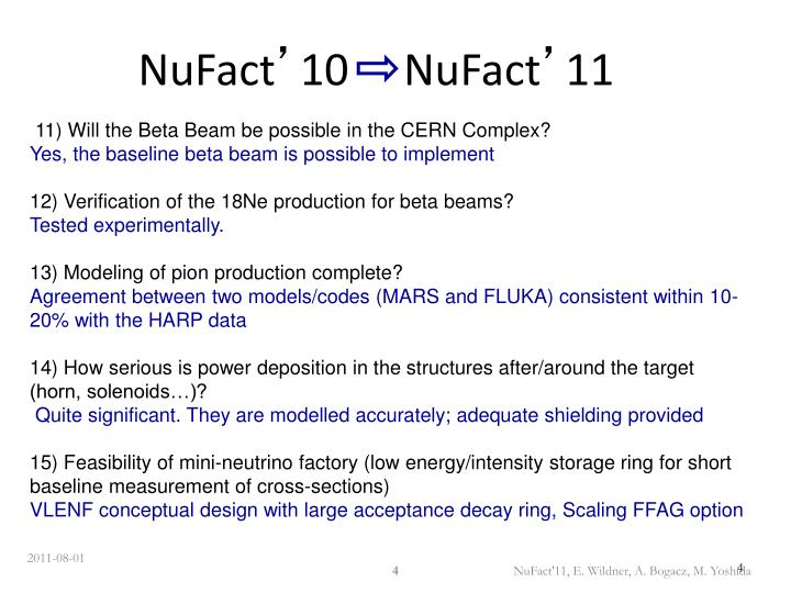 NuFact