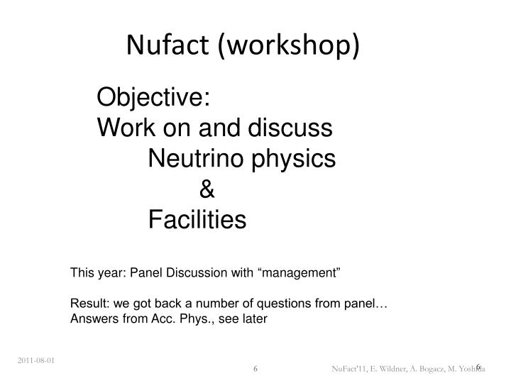 Nufact (workshop)