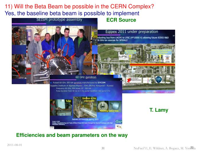 11) Will the Beta Beam be possible in the CERN Complex?