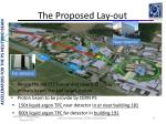 the proposed lay out
