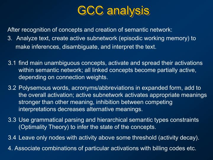 GCC analysis
