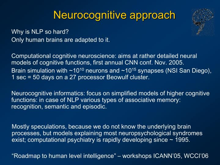 Neurocognitive approach