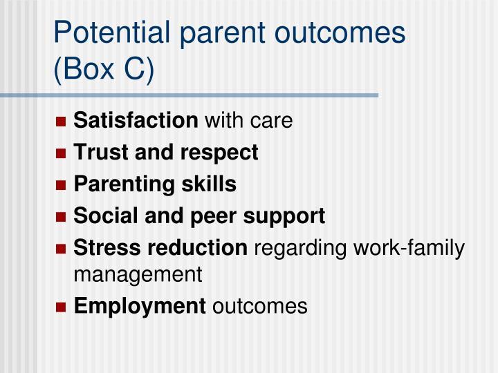 Potential parent outcomes