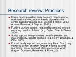 research review practices