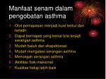 manfaat senam dalam pengobatan asthma
