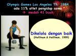 olympic games los angeles th 1984 ada 11 atlet pengidap asma medali 41 buah