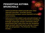 pengertian asthma bronchiale