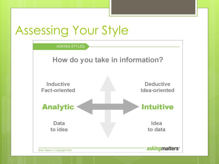 Assessing Your Style