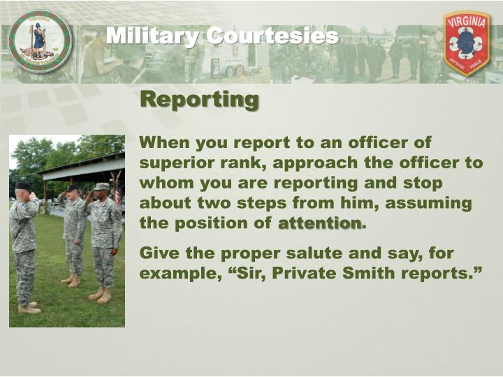 essays military customs courtesies The importance of customs and courtesies in the army customs and courtesies have been a part of many military and government settings for centuries some even running back to ancient roman times.