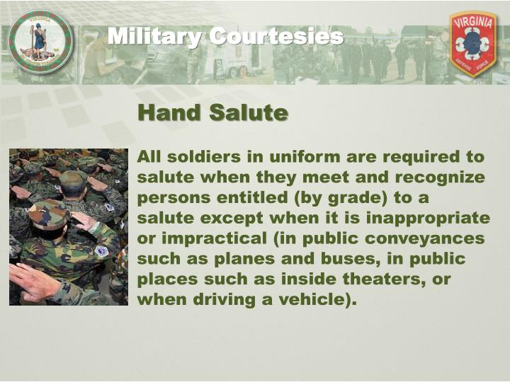 Military customs and courtesy essay