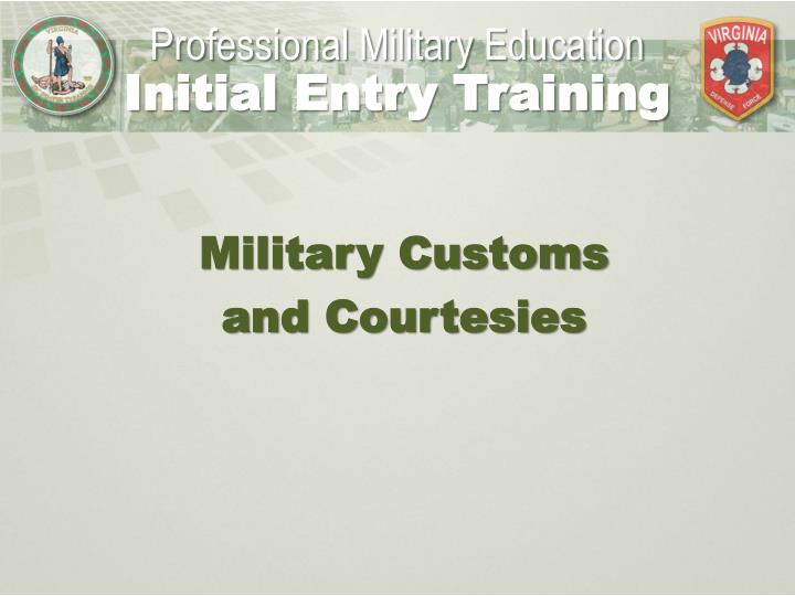 Customs and courtesies army