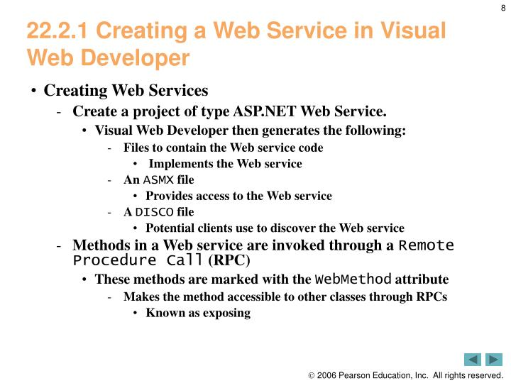 22.2.1 Creating a Web Service in Visual Web Developer