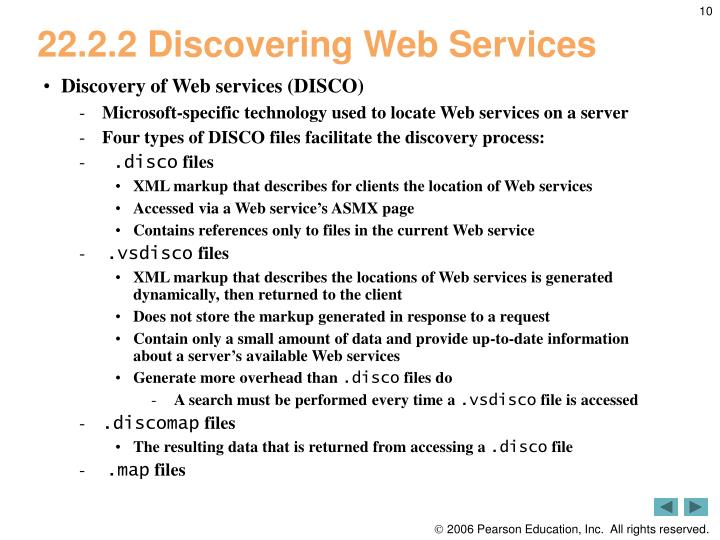 22.2.2 Discovering Web Services