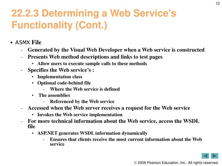 22.2.3 Determining a Web Service's Functionality (Cont.)
