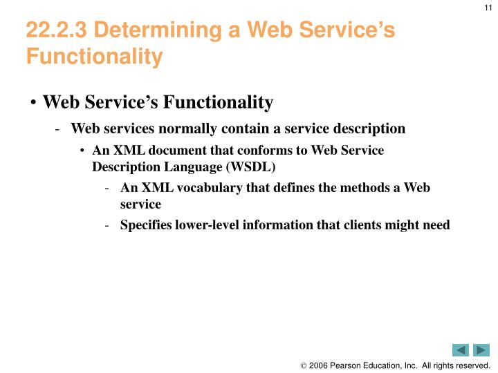 22.2.3 Determining a Web Service's Functionality