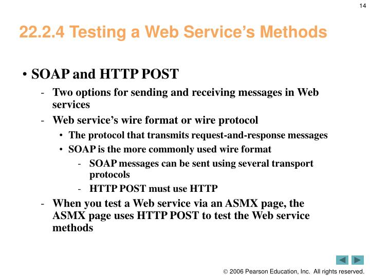 22.2.4 Testing a Web Service's Methods
