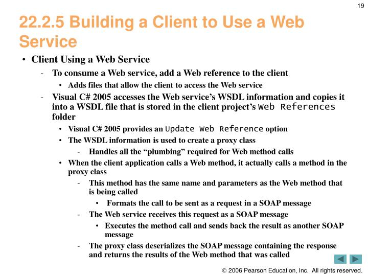 22.2.5 Building a Client to Use a Web Service