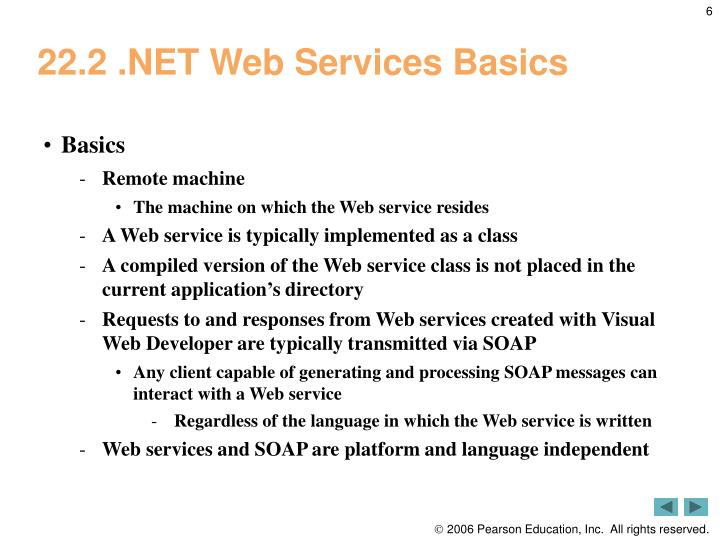 22.2 .NET Web Services Basics