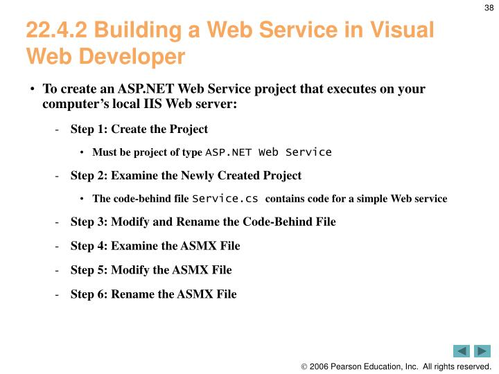 22.4.2 Building a Web Service in Visual Web Developer