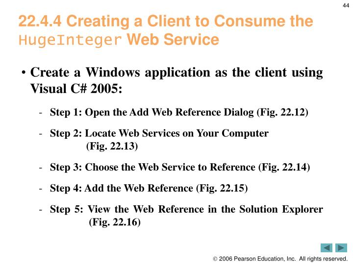 22.4.4 Creating a Client to Consume the
